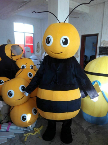 2019 Advertising Bee Hornet Mascot 2# Costume Suits Adult Cosplay Party Dress 1p