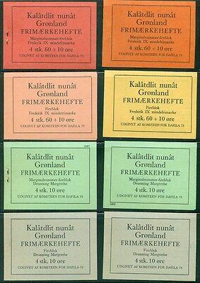 Komplettes Set SorgfäLtige Berechnung Und Strikte Budgetierung Greenland Privater Briefmarken Heftchen Daka #1-16 Selten