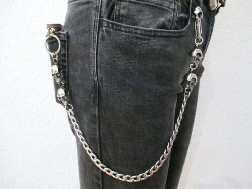 porte-monnaie chaîne en acier inoxydable morts têtes skull/'s mousqueton Pantalon Chaîne clés