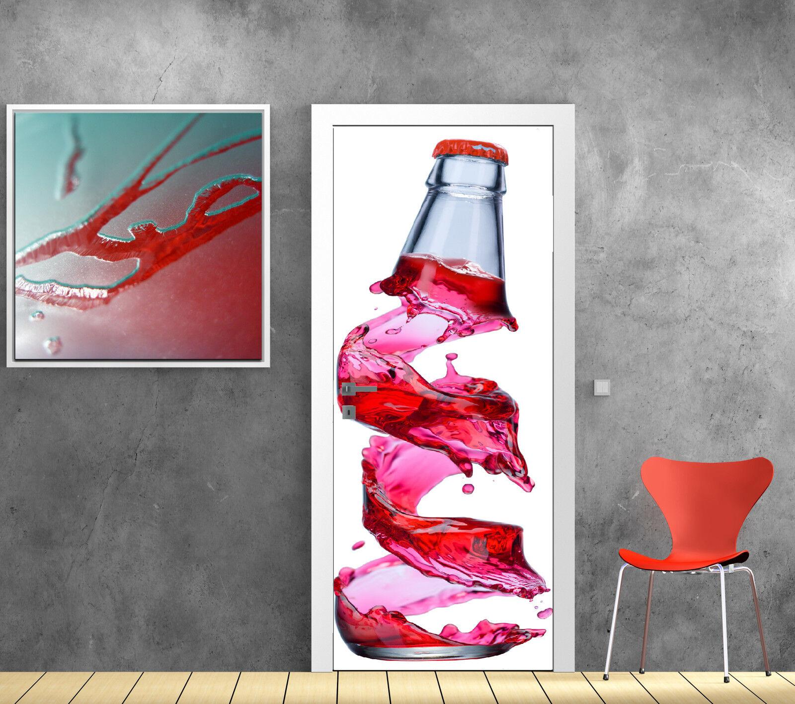 Aufkleber für Tür Dekor Küche Flasche Ref 729
