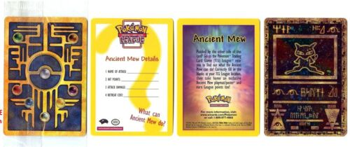 ANCIENT MEW Votre CHOIX LOT 3 Cartes PROMO POKEMON MEW ENTEI HOLO