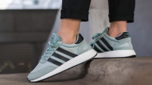 Adidas Originals Iniki Runner W Boost Tactile Green Core Black White Sky BY9096