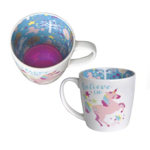 Inside Out Mug Tea Or Coffee Mug New Gift Boxed Believe Unicorn