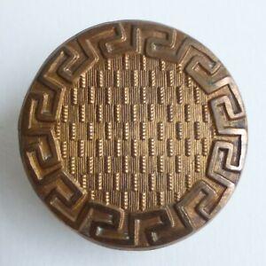 Bouton-ancien-Metal-repousse-XVIIIe-27-mm-Gut-Loop-Shank-Button-gt-1-in