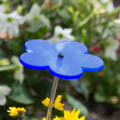 PräZise Cim Sonnenfänger Sundancer Blume 60 Blau Wetterfest Lichtreflektierend Deko
