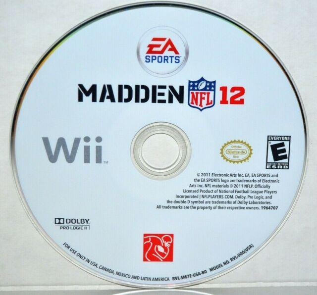 Madden NFL 12 (Nintendo Wii, 2011) Wii U EA Sports
