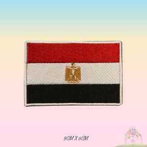 Egypt National Flag Embroidered Iron On Patch Sew On Badge Applique