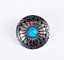 10PC-30MM-FLORAL-TURQUOISE-ANTIQUE-SLIVER-SCREW-BACK-CONCHOS-FOR-BELT-WALLET miniature 3