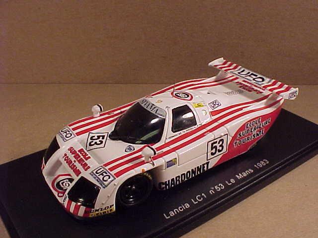 Spark 1 43 Résine Lancia Lc1, 1983 Mans, Sivama - UFO - Chardonnet,  53  S0664