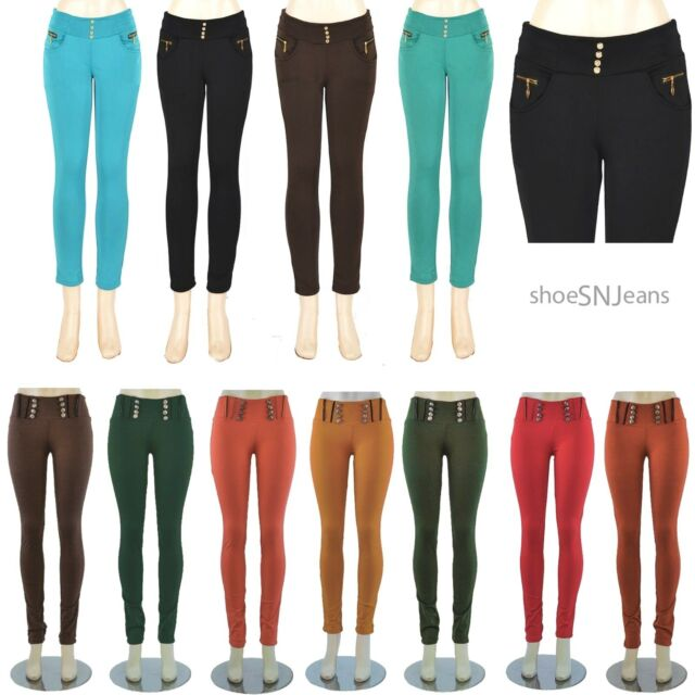 NEW Skinny Colorful Jeggings Stretchy Sexy Pants Soft Leggings Pencil