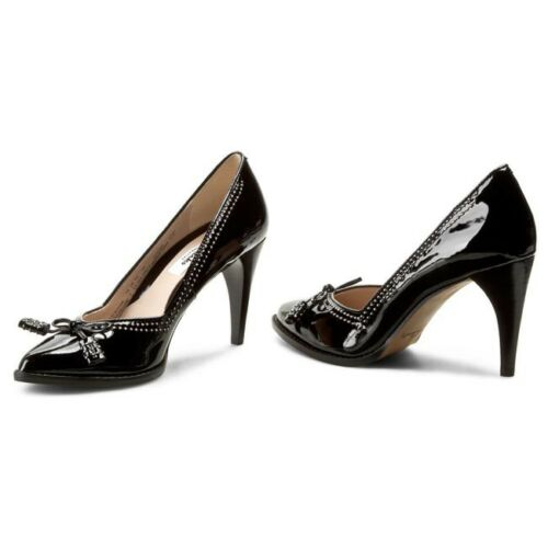 Clarks antiguo zapato Tamaño Reino negro 4d de Unido Deeta charol Nuevo dpXaIqI