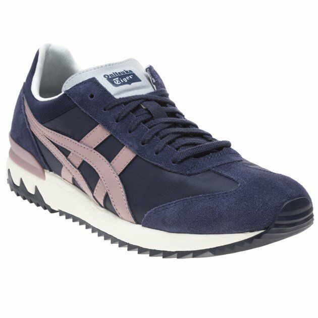 New  Uomo Onitsuka Tiger Navy Blau California 78 Ex Suede Trainers Retro Lace Up