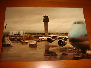 Alaska-Anchorage-Airport-View-of-KAL-Boeing-747-1985-4-R-Photograph