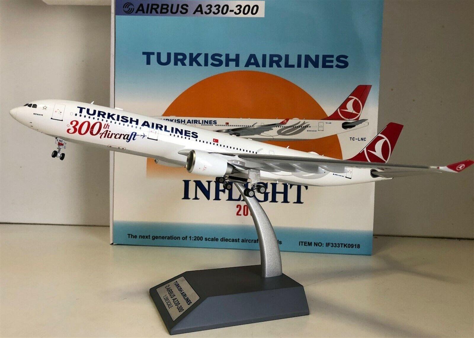 Turkish Airlines Airbuss A30-303 TC-LNC 300th 1 200-skala tärningskast Influght