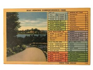 Busy-Persons-Correspondence-Card-Postcard-August-3-1948