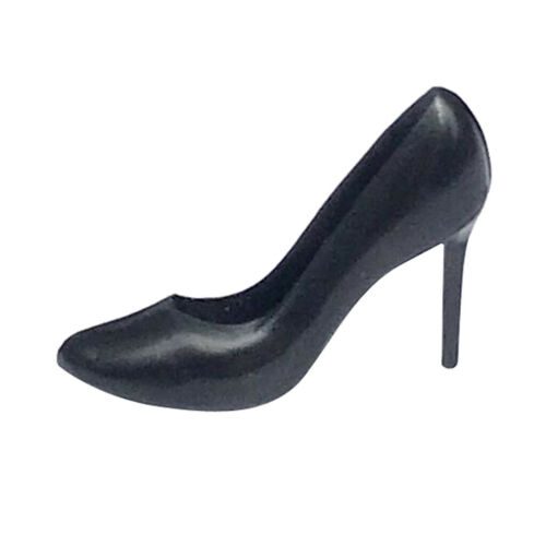 Miniature Black High Heel Shoes for 1//12 Dolls House Figures Accessory Decor