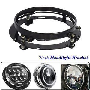 7-034-Black-LED-Headlight-Mounting-Bracket-Ring-for-Harley-Electra-Street-Glide