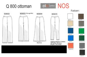 dimensioni XXL 42-54 Donna Pantaloni Ellbi piu elastica Ottoman Pantaloni Pantaloni slittamento