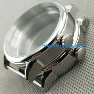 42mm-steel-Silve-Watch-Case-Fit-ETA-6497-6498-Seagull-ST36-movement