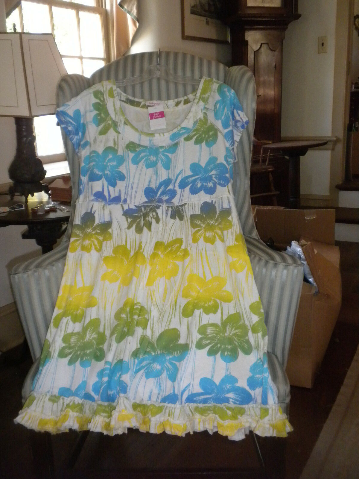 NWT FRESH PRODUCE COTTON  S S S S SUNSHINE STYLE  SPRING FLING  DESIGN DRESS (2X) 15483d