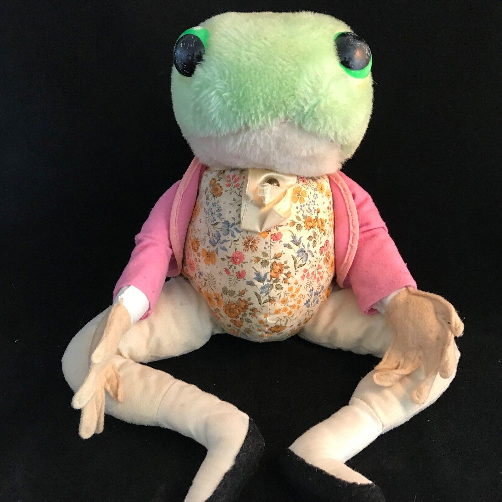 Jeremy Fisher Frog Plush from Beatrix Potter Peter Rabbit Vintage LARGE 18