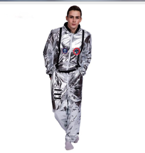 Halloween Rockstar.Details About Silver Suit Astronaut Space Man Rockstar Halloween Costume Cosplay S M L Xl