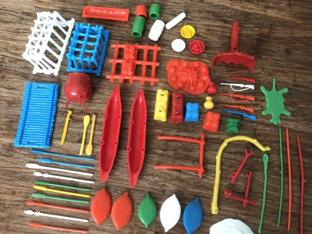 Marx Reissue Daktari Jungle Playset Accessories. You Receive This Exact Set.