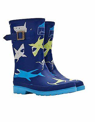 TOM JOULE Gummistiefel Wellington Boots blau Haie shark 25 27 28 30 31 32 33