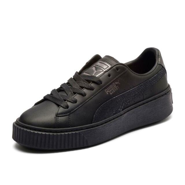 PUMA 364040 03 BASKET PLATFORM CORE NERO ORO Donna Sneakers