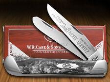 CASE XX Slant Series Ivory Quartz colored Corelon Trapper 1/2500 Stainless Knife