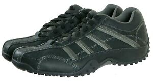 Skechers-Men-039-s-Casual-Sneakers-Shoes-Size-11-Leather-Black-Gray