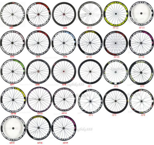 Superteam 700C Clincher Carbon Wheelset 50mm Road Bike Wheels 23mm Bicycle Wheel
