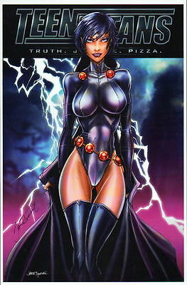 RAVEN X-23 Wolverine SUPERGIRL PSYLOCKE Prints (5) Jamie Tyndall w COA