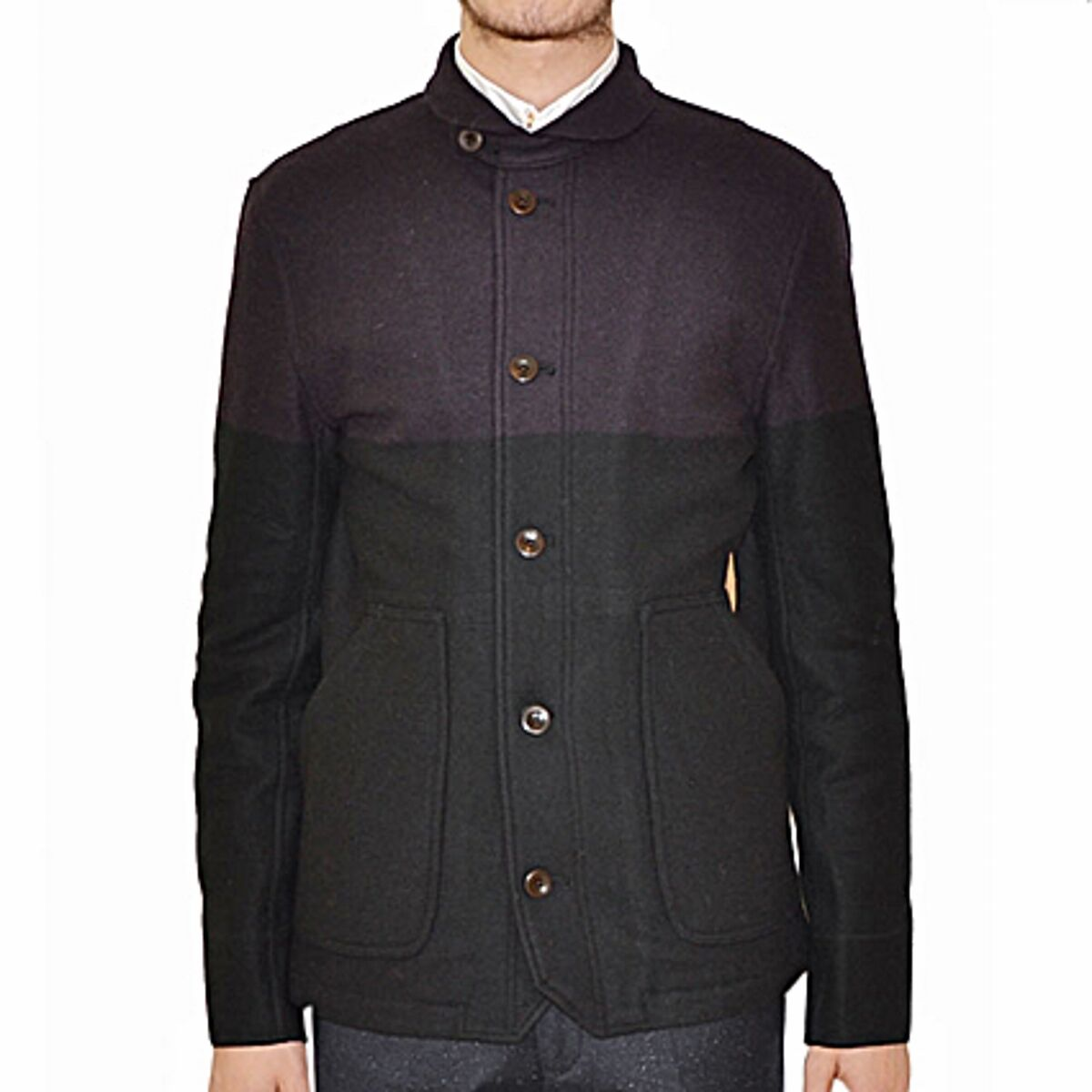 Paul Smith Coat Single-Breasted Bicoloured,  Two-color Single-Breasted Coat  save up to 30-50% off