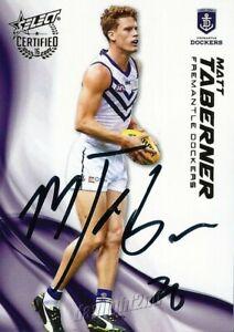 Signed-2016-FREMANTLE-DOCKERS-AFL-Card-MATT-TABERNER