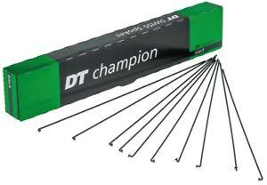4 Stück Fahrrad Speichen DT Swiss Champion M 2x286mm schwarz m. Nippel