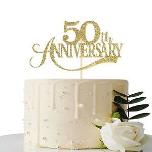 50th Wedding Anniversary Cakes.Details About Gold Glitter 50th Anniversary Cake Topper For 50th Wedding Anniversary 50