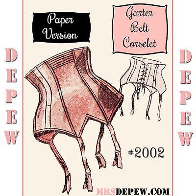 "Vintage Sewing Pattern French 1950's Pin Up Corset Garter Belt Pattern 25-35"""