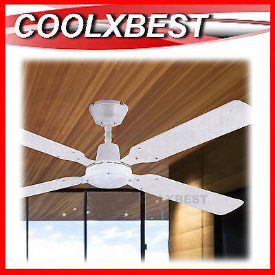 MODERN 120cm 4 BLADE CEILING FAN with MULTI ANGLE MOUNT 65W REVERSE ACTION