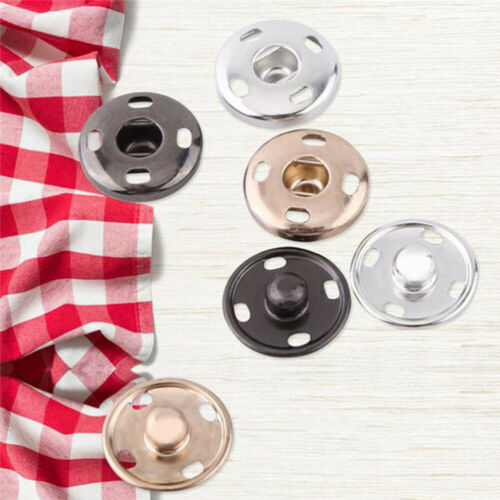 50 Sets Sew On Snaps Buttons Metal Snaps Fasteners Press Buttons Craft Accessory