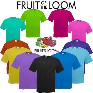 Men-s-Fruit-Of-The-Loom-T-Shirt-Original-100-Cotton-Casual-Plain-Top-Tee