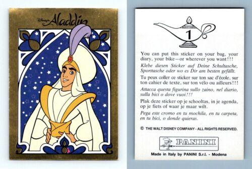 Aladdin #1 Disney/'s Aladdin 1993 Panini Sticker