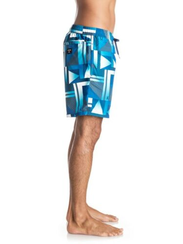 """QUIKSILVER MENS SHORTS.REMIX SWIMMING CHECK LINED 17/"""" BOARD//VOLLEY 7S  3227//BSW6"""