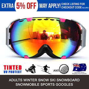 Details about Adults Skiing Snowboard Windproof Sports Snowmobile Snowboard  SKI Snow GOGGLES
