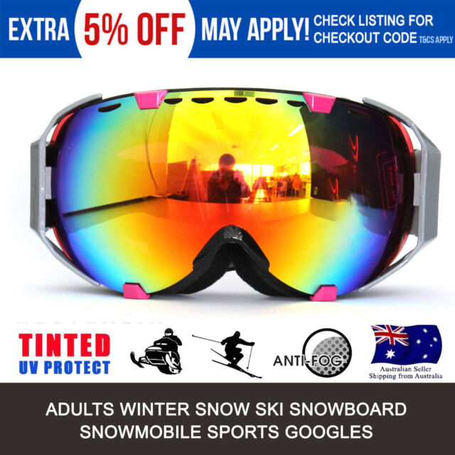 ea5a63c5ac1 Men Women Ski Snow Goggles Anti Fog UV Lens Snowboard Motorcycle Skiing  Glasses