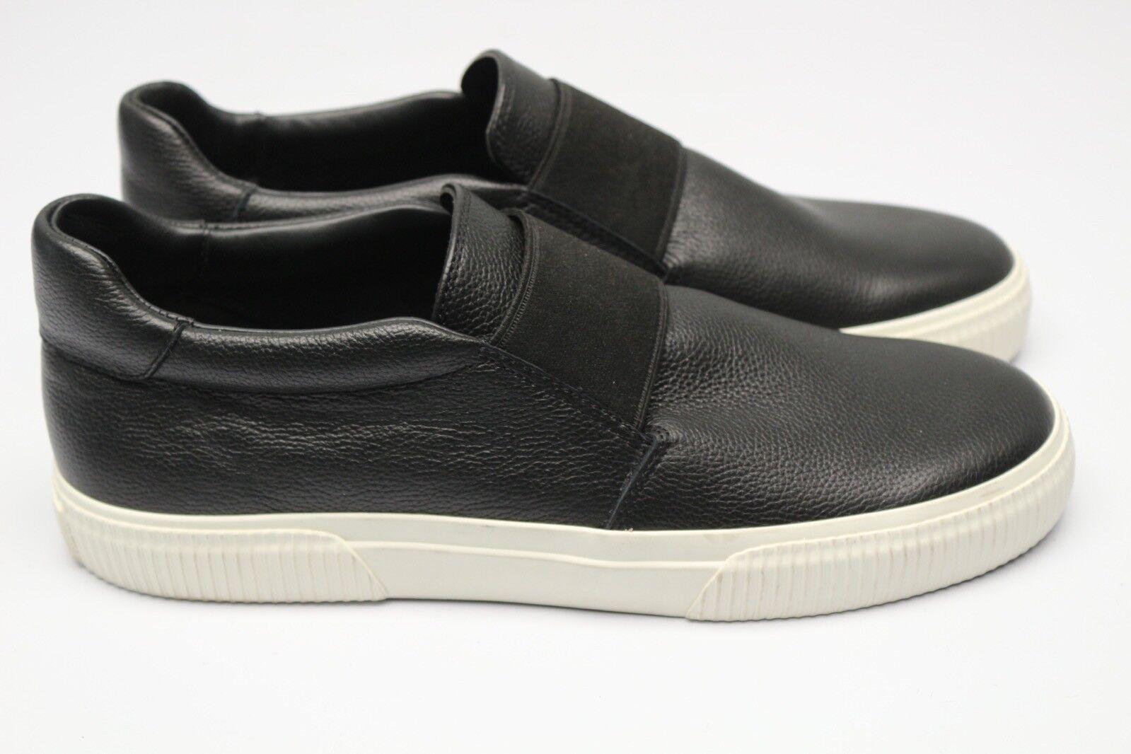 NWOB Vince. Weiß Kirkland Leder Sneaker 9.5 M 39.5 Schwarz Weiß Vince. Niedrig Slipper Neu acfaac