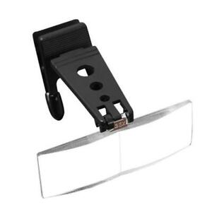 1PC-Magnifier-Folding-Handfree-Clip-On-Clear-Magnifying-Glasses-Lens-Precise