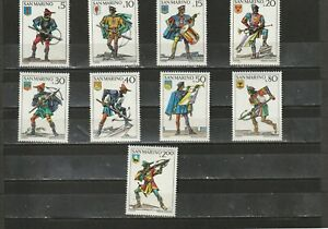 a89-SAN-MARINO-SG981-989-MNH-1973-VICTORY-IN-CROSSBOW-TOURNAMENT