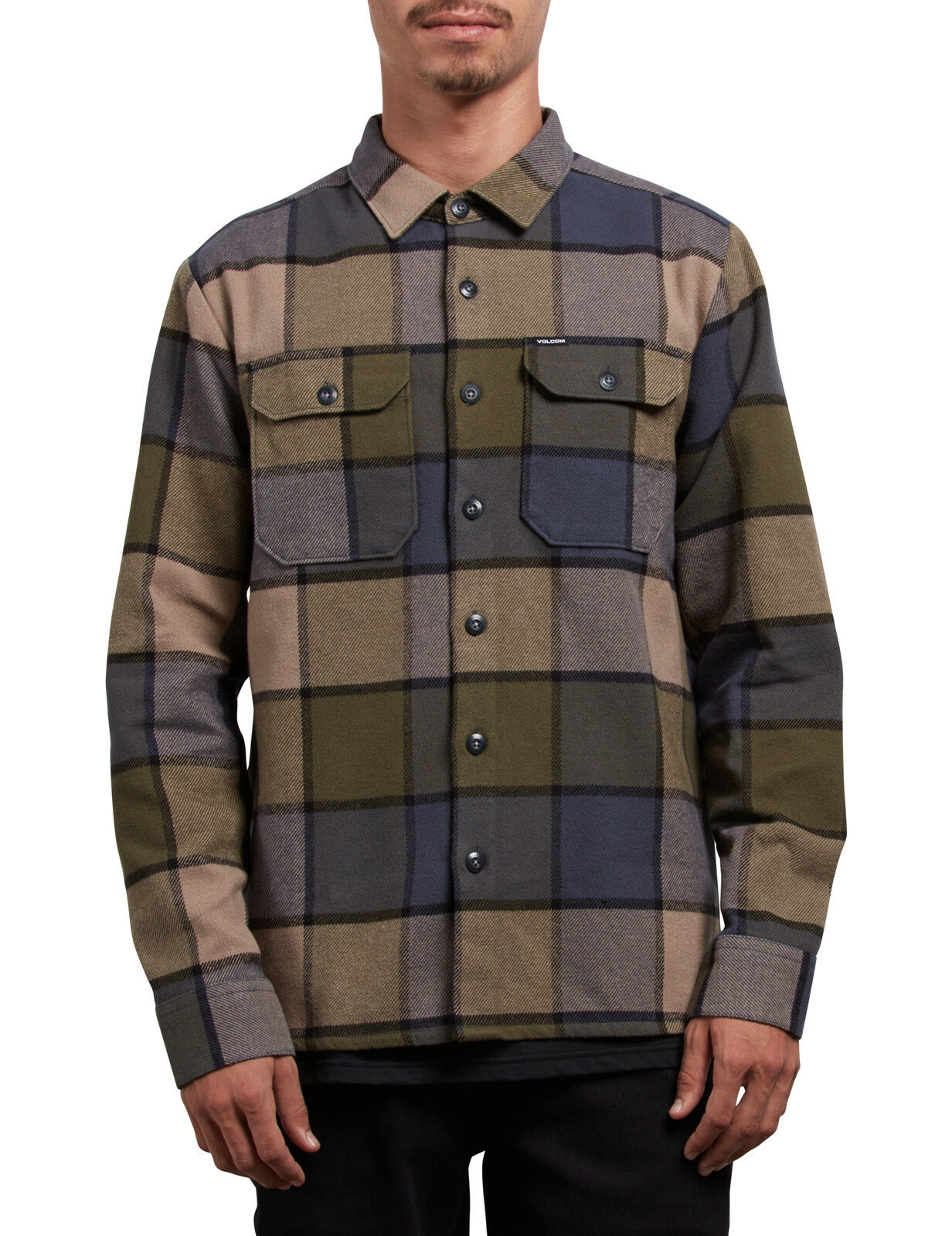 Volcom Randower Long Sleeve Shirt in Military