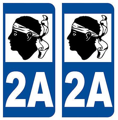 Auto, Moto – Pièces, Accessoires Automobilia 2a Corse Departement Immatriculation 2 X Autocollants Sticker/auto